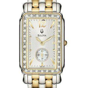 Bulova Women's Gold and Silver 25mm Watch